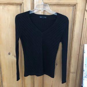 Banana Republic black v-neck merino sweater